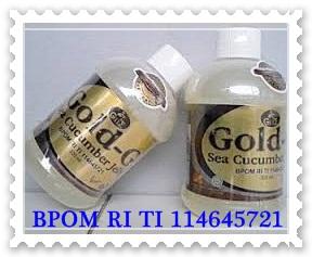 Obat radang otak Tradisional herbal nan alami JELLY GAMAT GOLD-G